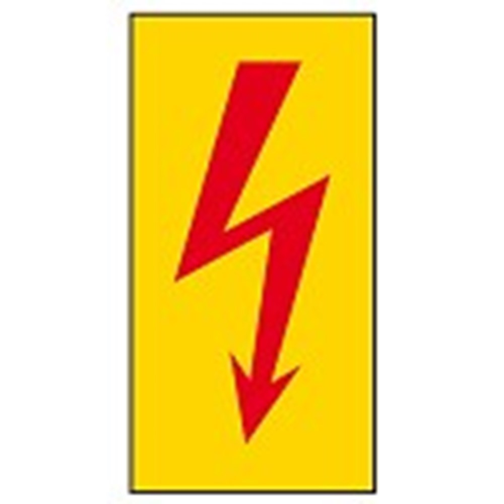 910269 Safety Sign Danger Electricity Symbol Only No Text